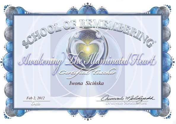 Certyfikat Trenerski Iwona Sicińska