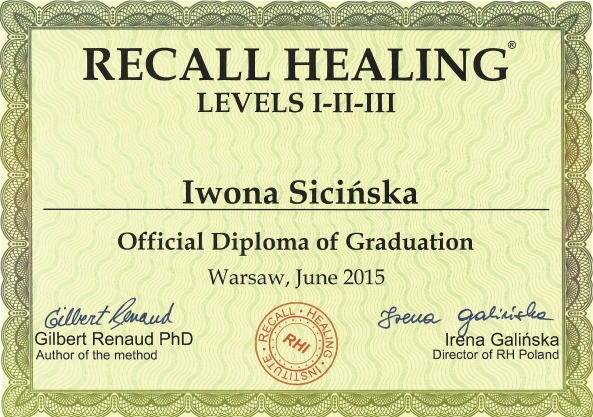 Recall Healing z Gilbertem Renaud - poziom I, II i III