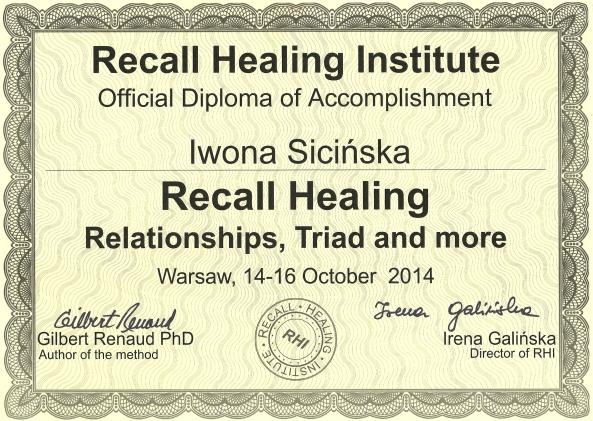 Recall Healing - Zwiazki a triady rodzinne